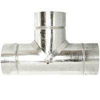 Тройник Versia-Lux оцинкованная сталь 87 Ф200 мм