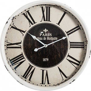 Часы круглые белые винтажные