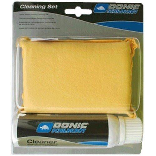 Набор для чистки ракеток Donic Cleaning set (foam cleaner 100 ml + sponge in a box)
