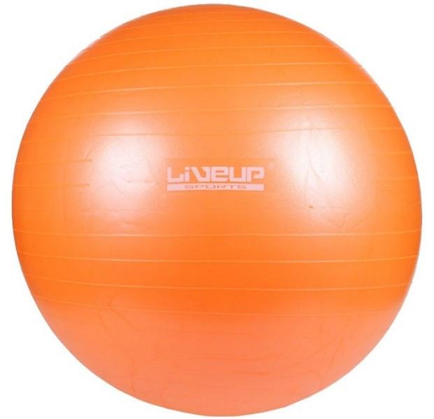 Фитбол 65 см с насосом LiveUp Анти-Взрыв оранжевый (LS3222-65o)