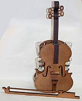 Подарочный мини-бар Скрипка, 6 рюмок