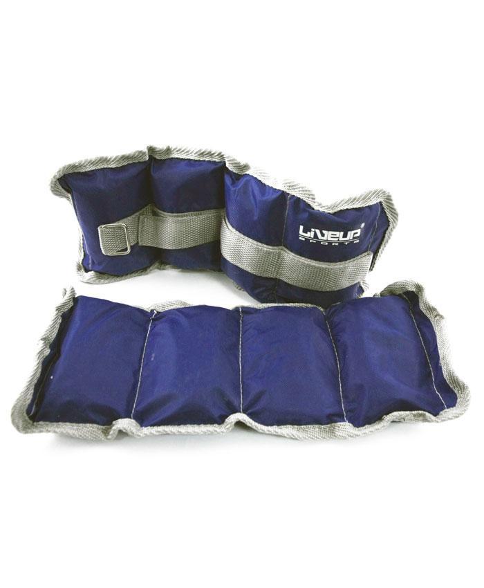 Утяжелители для запястья/щиколотки LiveUp WRIST/ANKLE WEIGHT, 2х1 кг, LS3011-1