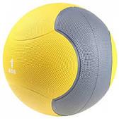 Медбол твердый резиновый - медицинский мяч LiveUp MEDICINE BALL, 1 кг