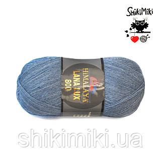 Пряжа Himalaya Lana Lux 800, цвет  светлый Джинс