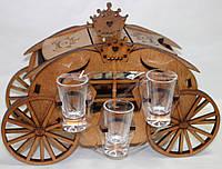 Мини-бар подарочный  Карета, 6 рюмок,Бары для дома,Оригинальный подарок