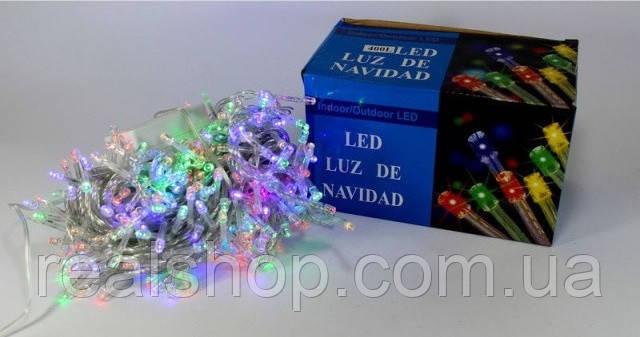 Новогодняя гирлянда LED 400 W-1 RGB COLOR (400 светодиодов) многоцветная