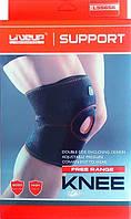Наколенник - бандаж колена на липучках для поддержки и защиты сустава от травм и ушибов LiveUp KNEE SUPPORT