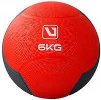 Медбол твердый резиновый (медицинский мяч) LiveUp MEDICINE BALL, 6 кг
