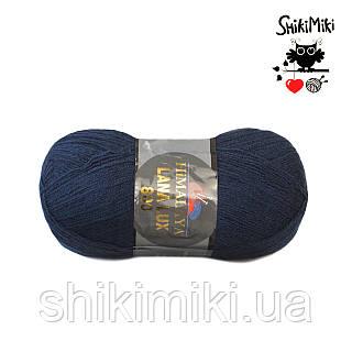 Пряжа Himalaya Lana Lux 800, цвет Темно синий
