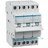Переключатель I-0-II с общим выходом сверху, 3-пол., 40А/400В, 3м  (ввод резервного питания)