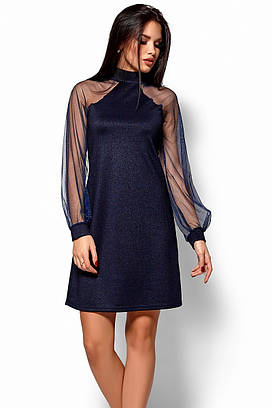 S   42-44) Вечірнє жіноче темно-синє плаття Renata - купити в ... e601d5e0ffcbc