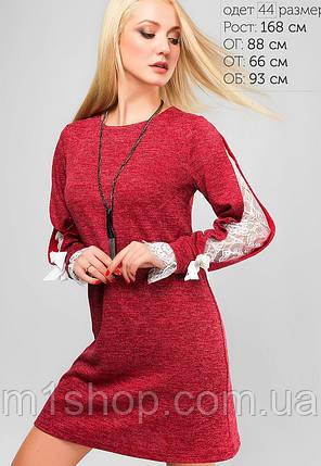 Женское ангоровое платье с гипюровыми вставками (3132 lp), фото 2