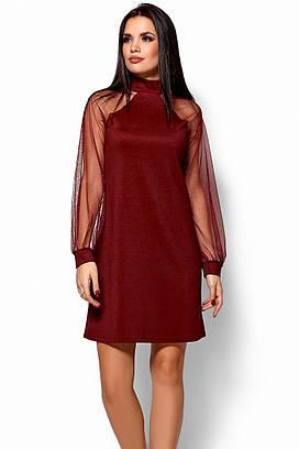 (S, M, L) Вечірнє жіноче марсалове плаття Renata