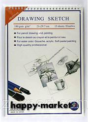 "Акварельная бумага B5 на спирали ""Drawing dessin"" 15 листов/140 гр."