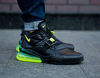 e98cdc31 Nike Air Force 270 Black Green | кроссовки мужские; черные/салатовые 8.5us  - 42eur - 26.5cm