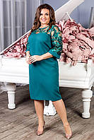 Нарядное платье, артикул 132, цвет аквамарин, фото 1