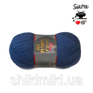 Пряжа Himalaya Lana Lux 800, цвет Темный джинс