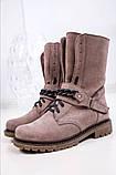 Стильные зимние высокие ботинки с цепью, фото 3