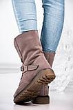 Стильные зимние высокие ботинки с цепью, фото 4