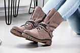 Стильные зимние высокие ботинки с цепью, фото 6