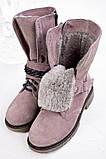 Стильные зимние высокие ботинки с цепью, фото 7