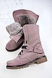 Стильные зимние высокие ботинки с цепью, фото 8
