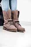 Стильные зимние высокие ботинки с цепью, фото 10