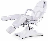 Кресло Кушетка косметологическая гидравлическая для педикюра стационарное BS-234-1 белая