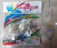 Воздушные шары 12026-2 с конфетти-фольгой и клапаном 5штук, 25см уп20