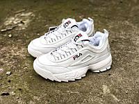 Женские кроссовки Fila стильные классные хит продаж молодежные фила (белые), ТОП-реплика, фото 1