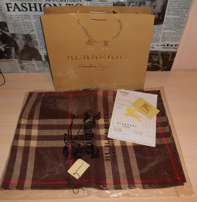 Шарф палантин Burberry, Италия, оригинал - DONINI boutique в Запорожье 54de2d35797