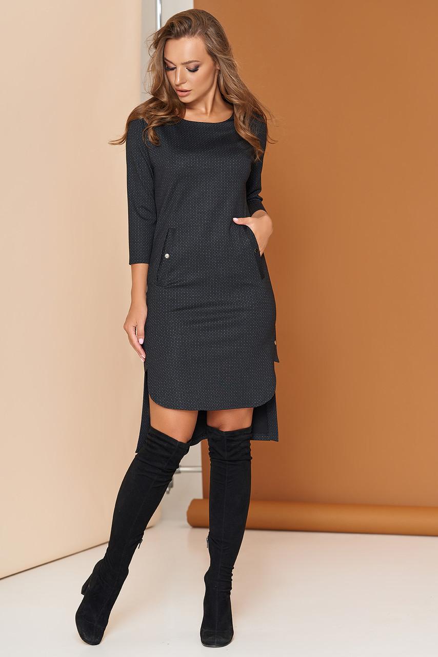 """Платье """"А-98"""" (черный)(размеры 44-54)"""