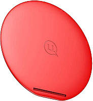 Беспроводное зарядное устройство Usams US-CD33 Wireless Fast Charging Pad with Foldable Stand---V Series Red