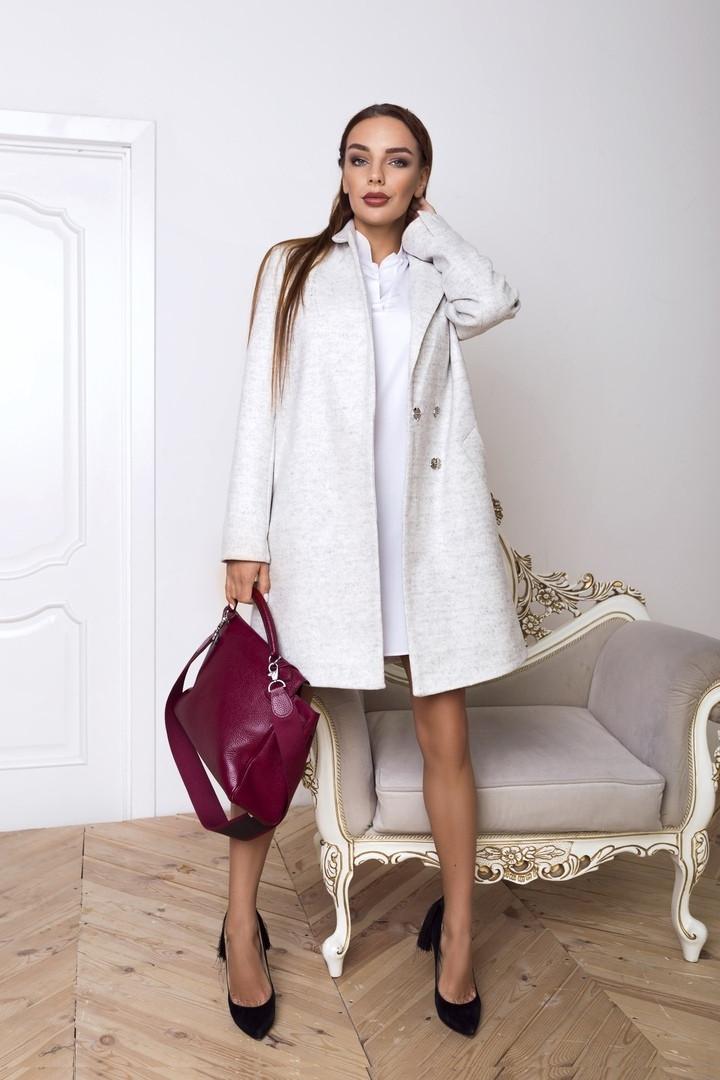 55a790e309a Женское свободное пальто из полушерсти в расцветках tez1402131 - «Anna  Tézor» - интернет-