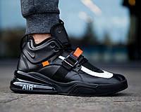 49abcc32 Nike Air Force 270 Black x OFF-White | кроссовки мужские; черные 8.5us -  42eur - 26.5cm