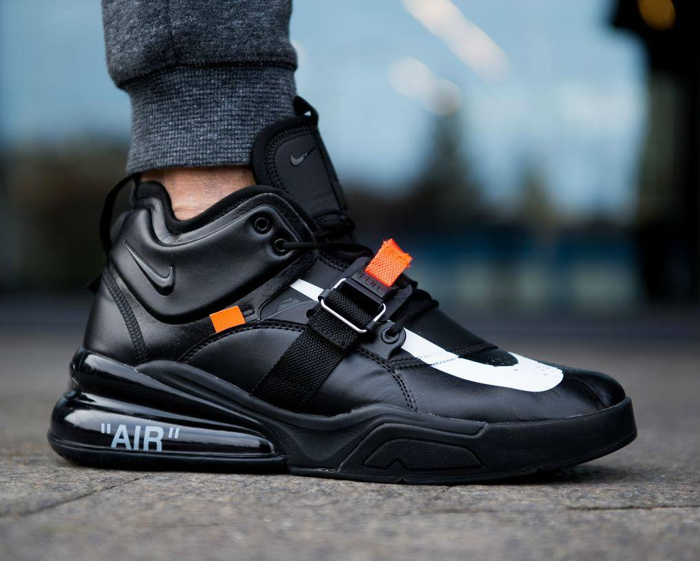270 Мужские; Black Force Nike Air WhiteКроссовки X Черные Off gbfY7y6