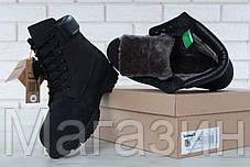 Мужские зимние ботинки Timberland Winter Black зимние Тимберленд С НАТУРАЛЬНЫМ МЕХОМ черные, фото 3