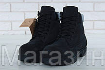 Мужские зимние ботинки Timberland Winter Black зимние Тимберленд С НАТУРАЛЬНЫМ МЕХОМ черные, фото 2