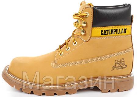 Зимние ботинки Caterpillar Colorado Winter Boots Yellow Катерпиллер Колорадо С МЕХОМ желтые, фото 2