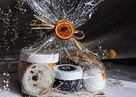 Декоративная упаковка подарка в пакеты из полипропилена