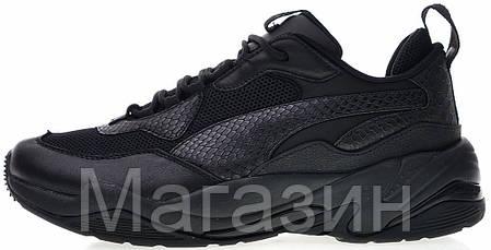 Мужские кроссовки Puma Thunder Spectra Triple Black Пума черные, фото 2