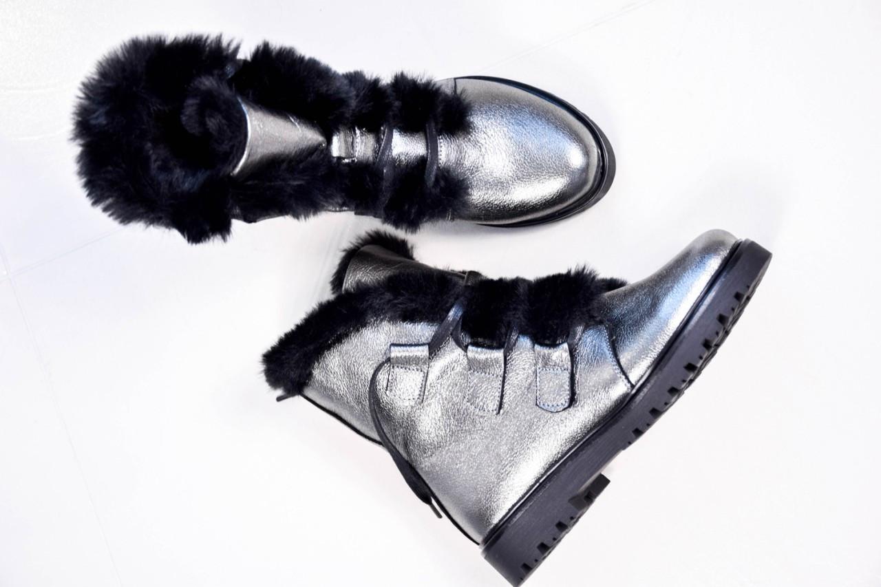 Зимние женские ботинки на шнуровке (никель)
