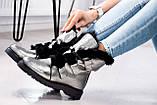 Зимние женские ботинки на шнуровке (никель), фото 3