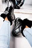 Зимние женские ботинки на шнуровке (никель), фото 10