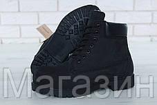 Женские зимние ботинки Timberland Classic 6 inch Winter Black Тимберленд С НАТУРАЛЬНЫМ МЕХОМ черные, фото 2