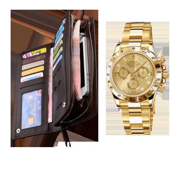 Комплект клатч Baellerry Italia + часы Rolex Daytona