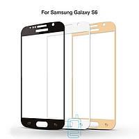 Защитное стекло Samsung S6 G920 Full Screen white тех.пакет