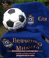 Полотенца с именной вышивкой для юных футболистов - станет эксклюзивным подарком