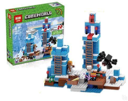 """Конструктор LEPIN 18025 Minecraft  """"Ледяные шипы"""", 386 дет. (Майнкрафт)"""