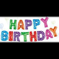 Шар фольга Happy Birthday С Днем рождения
